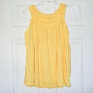 🌼 New! Cato | Women's  Yellow Ruffle  Tank Top